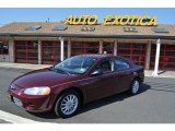 2002 Dark Garnet Red Pearl Chrysler Sebring LX Sedan #53672889