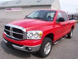 2007 Flame Red Dodge Ram 1500 SLT Quad Cab 4x4 #5347783