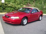 1999 Laser Red Metallic Ford Mustang V6 Convertible #53671813