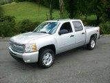 2011 Sheer Silver Metallic Chevrolet Silverado 1500 LT Crew Cab 4x4 #53672708