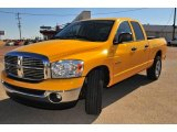 2008 Detonator Yellow Dodge Ram 1500 Big Horn Edition Quad Cab #5357214