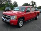 2009 Victory Red Chevrolet Silverado 1500 LT Crew Cab 4x4 #53672701