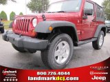 2012 Deep Cherry Red Crystal Pearl Jeep Wrangler Sport S 4x4 #53775413