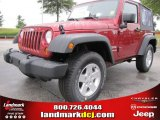 2012 Deep Cherry Red Crystal Pearl Jeep Wrangler Sport S 4x4 #53775410