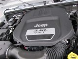 2012 Jeep Wrangler Sport S 4x4 3.6 Liter DOHC 24-Valve VVT Pentastar V6 Engine