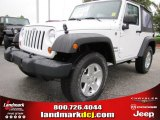 2012 Bright White Jeep Wrangler Sport S 4x4 #53775408