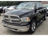 2012 Black Dodge Ram 1500 Big Horn Quad Cab 4x4 #53672590