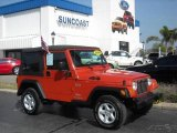 2006 Impact Orange Jeep Wrangler X 4x4 #5356585