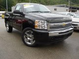 2009 Black Chevrolet Silverado 1500 LT Regular Cab 4x4 #53774059