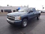 2011 Blue Granite Metallic Chevrolet Silverado 1500 LS Extended Cab 4x4 #53811304