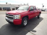 2011 Victory Red Chevrolet Silverado 1500 LS Extended Cab 4x4 #53811303