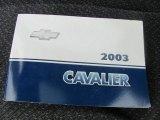 2003 Chevrolet Cavalier LS Sport Coupe Books/Manuals