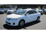 2011 Super White Toyota Corolla LE #53811283