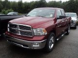 2012 Deep Cherry Red Crystal Pearl Dodge Ram 1500 Big Horn Quad Cab 4x4 #53811409