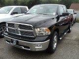 2012 Black Dodge Ram 1500 Big Horn Quad Cab 4x4 #53811408