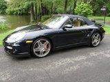 2008 Midnight Blue Metallic Porsche 911 Turbo Cabriolet #53844025