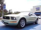 2005 Legend Lime Metallic Ford Mustang V6 Deluxe Coupe #53857374