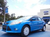 2012 Blue Candy Metallic Ford Focus SE SFE Sedan #53857359
