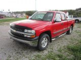 1999 Victory Red Chevrolet Silverado 1500 LS Z71 Extended Cab 4x4 #53857501
