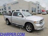 2009 Bright Silver Metallic Dodge Ram 1500 Sport Quad Cab 4x4 #53857212