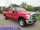 2012 Vermillion Red Ford F350 Super Duty XLT SuperCab 4x4 #53857205
