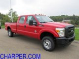 2012 Vermillion Red Ford F250 Super Duty XL Crew Cab 4x4 #53857203