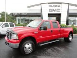 2005 Red Ford F350 Super Duty Lariat Crew Cab 4x4 Dually #53904276