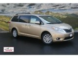 2011 Sandy Beach Metallic Toyota Sienna XLE AWD #53904125