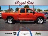 2008 Sunburst Orange Pearl Dodge Ram 1500 Big Horn Edition Quad Cab 4x4 #53904189