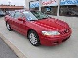 2002 San Marino Red Honda Accord EX V6 Coupe #53904096