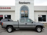 2002 Medium Charcoal Gray Metallic Chevrolet Silverado 1500 LS Extended Cab 4x4 #53904245