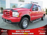 2004 Red Ford F250 Super Duty XLT Crew Cab 4x4 #53917940