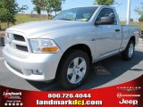 2012 Bright Silver Metallic Dodge Ram 1500 Express Regular Cab #53917936