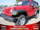 2012 Flame Red Jeep Wrangler Sport 4x4 #53917922