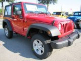 Flame Red Jeep Wrangler in 2012