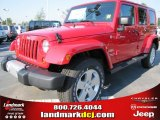 2012 Flame Red Jeep Wrangler Unlimited Sahara 4x4 #53917920