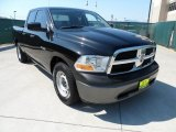 2009 Brilliant Black Crystal Pearl Dodge Ram 1500 ST Quad Cab #53918006