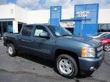 2012 Blue Granite Metallic Chevrolet Silverado 1500 LT Crew Cab 4x4 #53941409