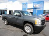 2011 Steel Green Metallic Chevrolet Silverado 1500 Regular Cab 4x4 #53941402