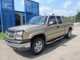 2004 Sandstone Metallic Chevrolet Silverado 1500 LS Extended Cab 4x4 #53941361