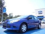 2012 Sonic Blue Metallic Ford Focus S Sedan #53961425