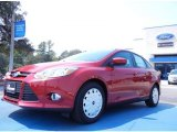 2012 Red Candy Metallic Ford Focus SE SFE Sedan #53961420