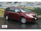2011 Salsa Red Pearl Toyota Sienna LE AWD #53961292