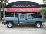 2006 Blue Granite Metallic Chevrolet Silverado 1500 Z71 Extended Cab 4x4 #53961391