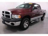2003 Dark Garnet Red Pearl Dodge Ram 1500 ST Quad Cab 4x4 #53961256