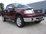 2006 Dark Toreador Red Metallic Ford F150 Lariat SuperCrew 4x4 #53981207