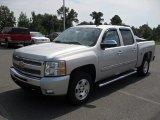 2011 Sheer Silver Metallic Chevrolet Silverado 1500 LT Crew Cab #53982333