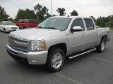 2011 Sheer Silver Metallic Chevrolet Silverado 1500 LT Crew Cab 4x4 #53982330