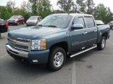 2011 Blue Granite Metallic Chevrolet Silverado 1500 LT Crew Cab #53982328