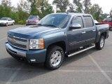 2011 Blue Granite Metallic Chevrolet Silverado 1500 LT Crew Cab 4x4 #53982325